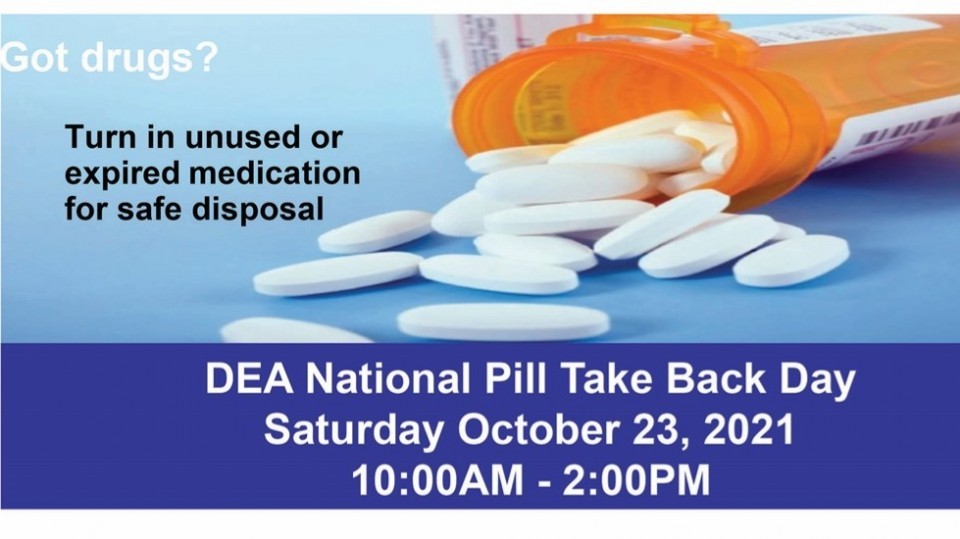 DEA National Pill Take Back Day October 2021